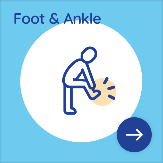 Foot and ankle service illustration